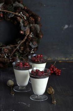 Panna Cotta de Baileys y Chocolate con frutos rojos