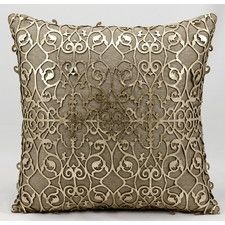 Laser Saray Laser Cut Leather Throw Pillow