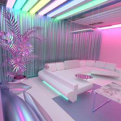 Me encantaría pasar un día solo en esta habitación Habitación Vaporwave Room - Neon Bedroom, Room Ideas Bedroom, Girls Bedroom, Bedroom Decor, Cute Room Ideas, Cute Room Decor, Awesome Bedrooms, Cool Rooms, Aesthetic Rooms