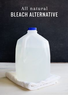 Reasons to avoid regular bleach: Respiratory issues, Skin burns, Damage to nervous system, Exacerbates Asthma, Headaches, Vomiting, Accidents that cause the skin to come into direct contact with bleach or people ingesting it (as many as 700 adults per year), Linked to cancer   DIY Natural Bleach | HelloGlow.co   1½ cups 3% hydrogen peroxide ½ cup lemon juice 12 cups filtered water
