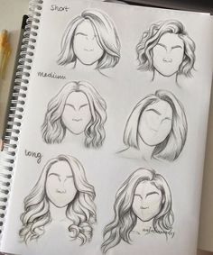 Pin By Abbmdavenport On Hairs How To Draw Hair Hair Sketch Art- hairstyles drawing short tomboy hairstyles drawing Drawing Techniques, Drawing Tips, Drawing Reference, Drawing Sketches, Sketch Art, Sketching, Hair Styles Drawing, Drawing Faces, Drawing Drawing