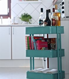 Next dinner party, just wheel in a RÅSKOG trolley when it's time for drinks to start...   Great idea from Michelle-Marie's home in Denmark   live from IKEA FAMILY
