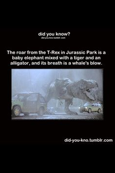 Jurassic Park movie tidbit