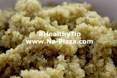 #HealthyTip: Quinoa is rich in protein, supports strong bones & teeth AND it's an Anti-Inflammatory food! The perfect topping on your next organic salad from Napizza!