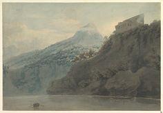 John Robert Cozens (1752-1797) - On the Gulf of Salerno near Vietri, 1782 or later