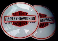 Harley Davidson Motorcycle Gas Pump Globe Sign