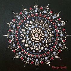 Dot Art Painting, Mandala Painting, Acrylic Painting Canvas, Stone Painting, Painting & Drawing, Mandala Canvas, Mandala Dots, Mandala Design, Painted Rocks