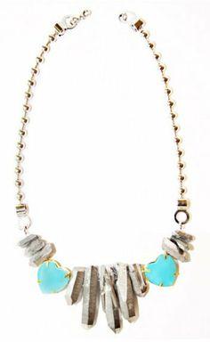 Quartz & Hearts Necklace