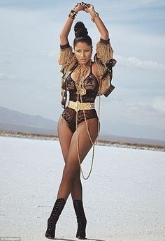 Curves: The 31-year-old Nicki Minaj showed off her sexier side in two different sheer getups