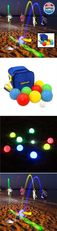 Bocce Ball 79788: Bocce Ball Game Set • Lighted Led Glow Multicolor • Tournament Play High-Quality -> BUY IT NOW ONLY: $97.44 on eBay!