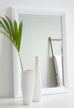 Mirrors create feeling of space and reflect the light. Vekki (Pleat) mirror is made of white-painted Emperor tree and can be hanged in vertical or horizontal position. The size of this mirror is cm. Candle Holders, Furniture, Vertical Or Horizontal, Home Decor, Vase, Hanging, Beautiful Candles, Inspiration, Mirror