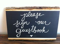 Rustic Chalkboard Sign  Please sign our Guestbook by MissandMaam, $35.00