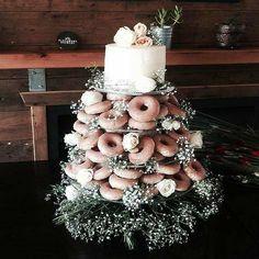 Blush Donut Wedding Cake