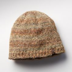 BACKCOUNTRY BEANIE--Thick and textural with space-dyed stripes, top off your look with warmth and style. Acrylic/polyester knit with comfortable fleece band inside. Hand wash. Imported. One size fits most adults.
