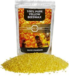 NATURAL APIARY® 100% PURE BEESWAX PELLETS - 1LB General Use Pastilles DIY Projects; Candle Making, Lotions, Lip Balms, Furniture Polish