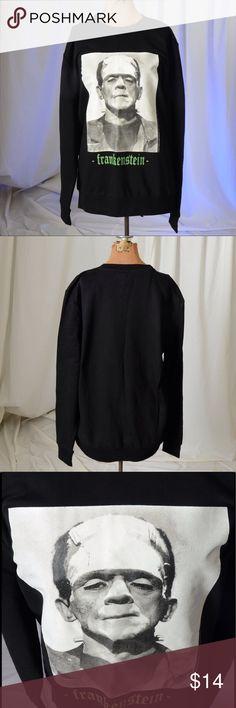 Frankenstein sweatshirt Frankenstein black sweatshirt.  Shirt is in excellent condition.  Material is 55% cotton and 45% polyester. Divided Shirts Sweatshirts & Hoodies