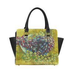 Vincent van Gogh Grapes Fine Art Painting Classic Shoulder Handbag (Model 1653)