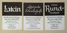 Schreiber Hans: Soennecken-Alphabete Nummern 2, 6, 7 2. – gebraucht kaufen bei…