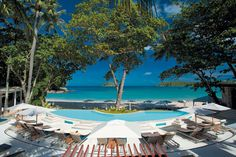 The very inviting view and ambience at RE KÁ TA Beach Club. Chill...