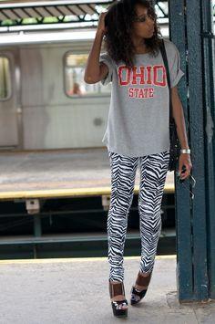 OSU T-shirt worn (dare I say) glamorously!