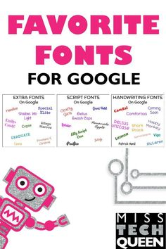 Many people think that with Google Docs or Slides, there are not many fun fonts available, since uploading your own is not possible. I am here to tell you, that is not true!! Google does in fact have a library full of unique fonts!!!  To add Google fonts to your projects select text and hit MORE FONTS Sort by popularity, date added, trending Select as many fonts as you would like The fonts will automatically be installed into your font list and appear across any Google item!  #googleedu…