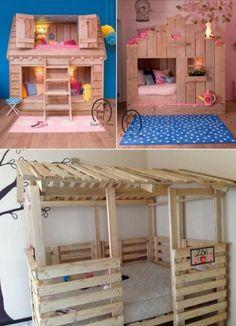 Kids Pallet Bed