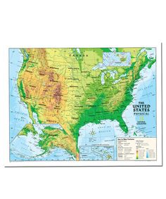 Love This Physical Usa Kids Laminated Topographical Map On Zulily Zulilyfinds