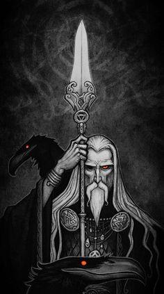 Odin Norse Mythology, Norse Pagan, Viking Art, Viking Warrior, Viking Decor, Celtic Tattoos, Viking Tattoos, Dark Fantasy, Fantasy Art