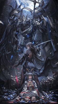 Anime Art Fantasy, Dark Fantasy Art, Fantasy Girl, Fantasy Artwork, Anime Warrior, Fantasy Warrior, Fantasy Character Design, Character Art, Fantasy Characters