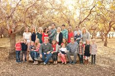 Love how a color palette works with such a large group Group Family Pictures, Family Reunion Photos, Extended Family Pictures, Family Pictures What To Wear, Large Family Photos, Family Picture Poses, Family Picture Outfits, Family Photo Sessions, Family Portrait Poses