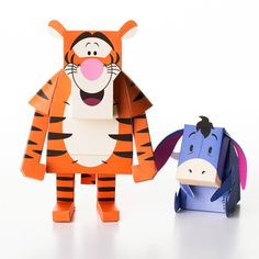 Tigger & Eeyore Paper Toys http://www.pinterest.com/vitriazhuanita/paper-toy/
