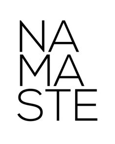 Namaste Block Print INSTANT DOWNLOAD by coldcupoftea on Etsy