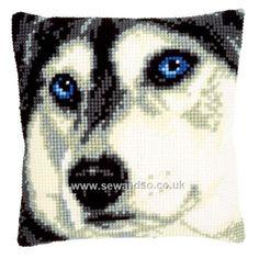 Buy Husky Cushion Front Chunky Cross Stitch Kit Online at www.sewandso.co.uk