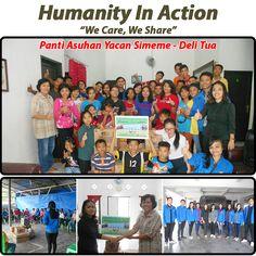 """HUMANITY IN ACTION """"We Care, We Share"""" Kepedulian Sosial dalam berbagi kepada anak-anak Panti Asuhan Yacan Simeme - Delitua. Sabtu, 25 Maret 2017  #KAMI (Komunitas Manajemen Informatika) #Mikroskil #humanityinaction"""