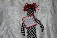 Racing Dammit Doll with red hair by tobeesgifts on Etsy, $14.95