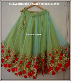 Lehenga design by Angalakruthi watsapp:+91-8884347333 custom designs by Angalakruthi-Ladies and kids boutique in Bangalore