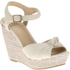 Beige neutral ankle strap wedge sandal - goes with everything! Walmart.com