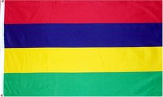 Mauritius National Country Flag - 3 foot by 5 foot Polyester (New) . $0.47