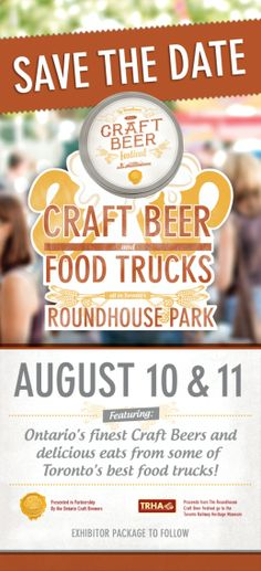 Steam Whistle Brewing - Roundhouse Craft Beer Fest 2013 August 10 & 11 featuring more food trucks and as always, Ontario craft beer! Canadian Beer, Craft Beer Festival, Best Food Trucks, Why Try, Beer Recipes, Round House, Brewing, August 10, Ontario