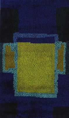 Huhtikuu, Raija Gripenberg Textile Patterns, Textile Art, Textiles, Rya Rug, Wool Rug, Floor Cloth, Floor Rugs, Mid Century Rug, Japanese Stamp
