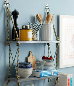 DIY Most Appreciated Rope Shelvs For Home Lovers