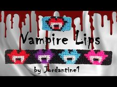 New Vampire Lips Kiss Bracelet / Charm Grid Pattern - Alpha / Rainbow Loom - Halloween - YouTube