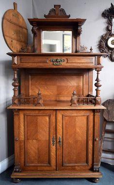 Prunk Vertiko, Eiche, ca. 1880 Buffet, Storage, Furniture, Home Decor, Oak Tree, Purse Storage, Decoration Home, Room Decor, Larger