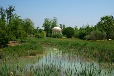 view of the temple of love, marie-antoinette's estate, palace of versailles