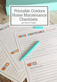 Free outdoor home and garden maintenance checklists. Everything you need to keep up your home's curb appeal and avoid costly repairs…