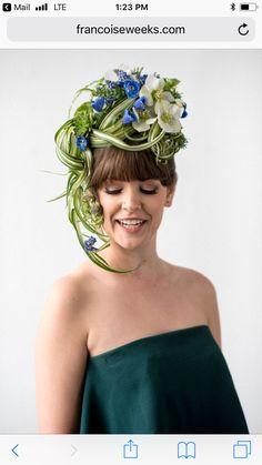 Hair Designs, Flower Designs, Modern Floral Arrangements, Floral Bodies, Floral Headdress, Flower Hats, Wedding Hats, Floral Fashion, Flowers In Hair