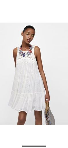 2b9572f6 70.00 | Zara New 2018 Flowing A-Line Dress ❤ #flowing #dress