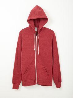 Alternative Rocky Eco-Fleece Zip Hoodie. great in red