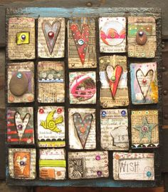 Photo Collage Puzzles made from your own photos. Make a Photo Collage Puzzle from your own pictures. Mixed Media Collage, Mixed Media Canvas, Collage Art, Heart Collage, Collages, Kunstjournal Inspiration, Art Journal Inspiration, Creation Art, Found Art