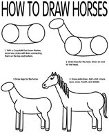 How to Draw Horses coloring page